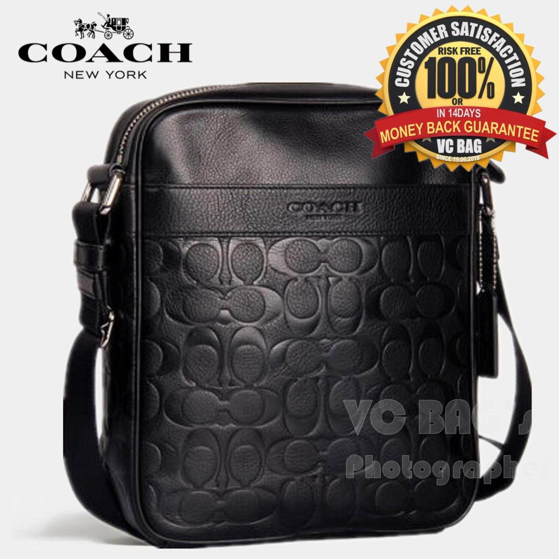 98ccc3b760 COACH F71819 Men s Charles Flight Bag in Signature Embossed Leather  Black