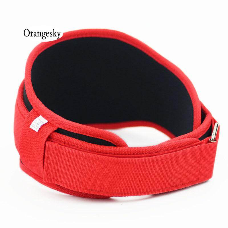 Orangesky Gym Weight Lifting Belt Nylon Eva Crossfit Musculation Squat Belts Fitness Weightlifting Training Lower Back Support By Orangesky.