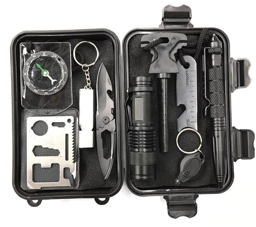 13 in 1 Survival Emergency Tool Kit For Tracking Outdoor