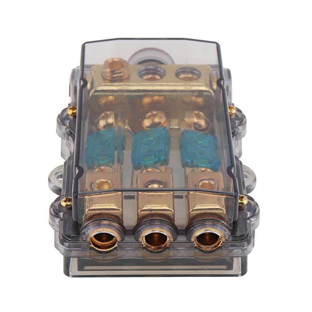 Car 1 In 3 Ways Out Distribution Block Fuse Holder 12v 60a For Boat Vehicles Amplifier By Epathchina Store.
