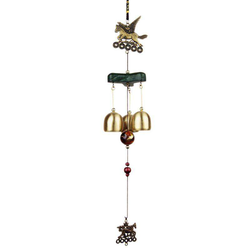 Wind Chimes Bells Copper 3xbells Outdoor Yard Garden Home Decor Living Ornament By Fastour.