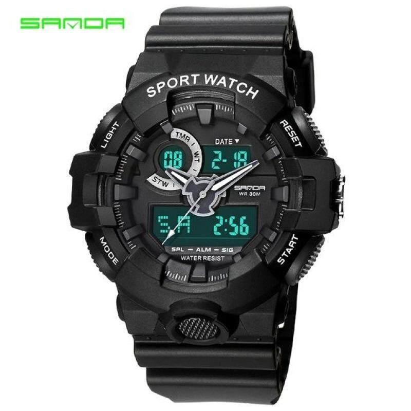SANDA Brand Casual Watch Men G Style Sport Waterproof Military Watches Shock Mens LED Analog Digital Quartz Watch Malaysia