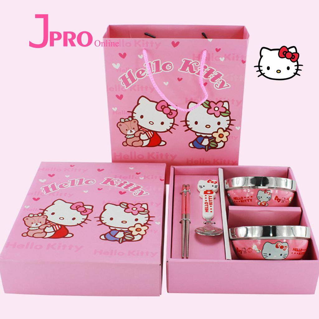 Hello Kitty Buy At Best Price In Malaysia Lazada Istana Kado Boneka Doraemon With Gadget 6 Inch Pensil Dinnerware Set Bowl Gift Boxes Stainless Steel