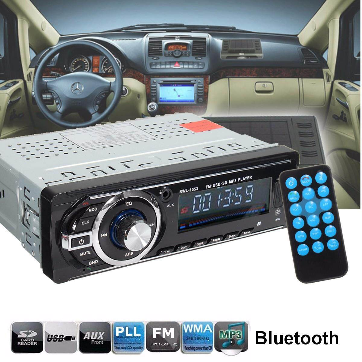 In-Dash Bluetooth Car Stereo Audio Fm Aux Input Receiver Sd Usb Mp3 Radio Player By Elec Mall.