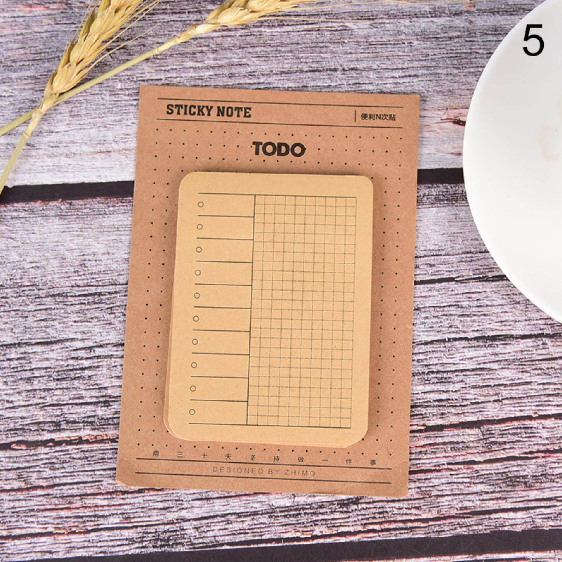 Sissi Week Plan List Grid Multi-Function Self-Adhesive N Times Memo Pad Sticky Mini Type:n1 By Sissi Princess.