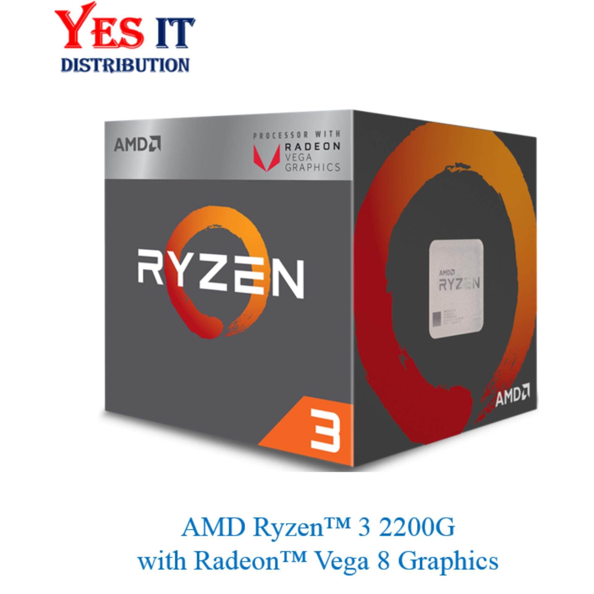 AMD Ryzen 3 2200G With Radeon Vega 8 Graphics Processor 3 7Ghz 6MB Cache