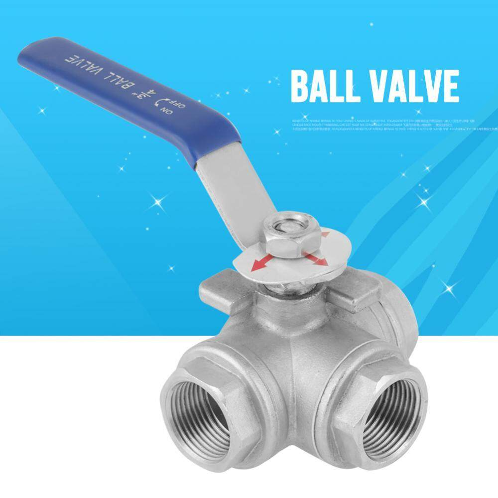 SHANYU Stainless Steel SUS304 Pipe Ball Valve Three-way T-Type Female Thread 3/4 DN20