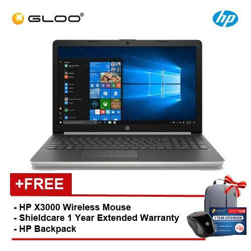 HP Notebook 15-da0006TX/ 15-da0007TX (i5-8250 4GB 1TB MX110 2GB)(15.6 FHD)(Black/ Silver) [FREE] HP X3000 Wireless Mouse + HP Backpack + Shield care - 1 Year Extended Warranty Malaysia