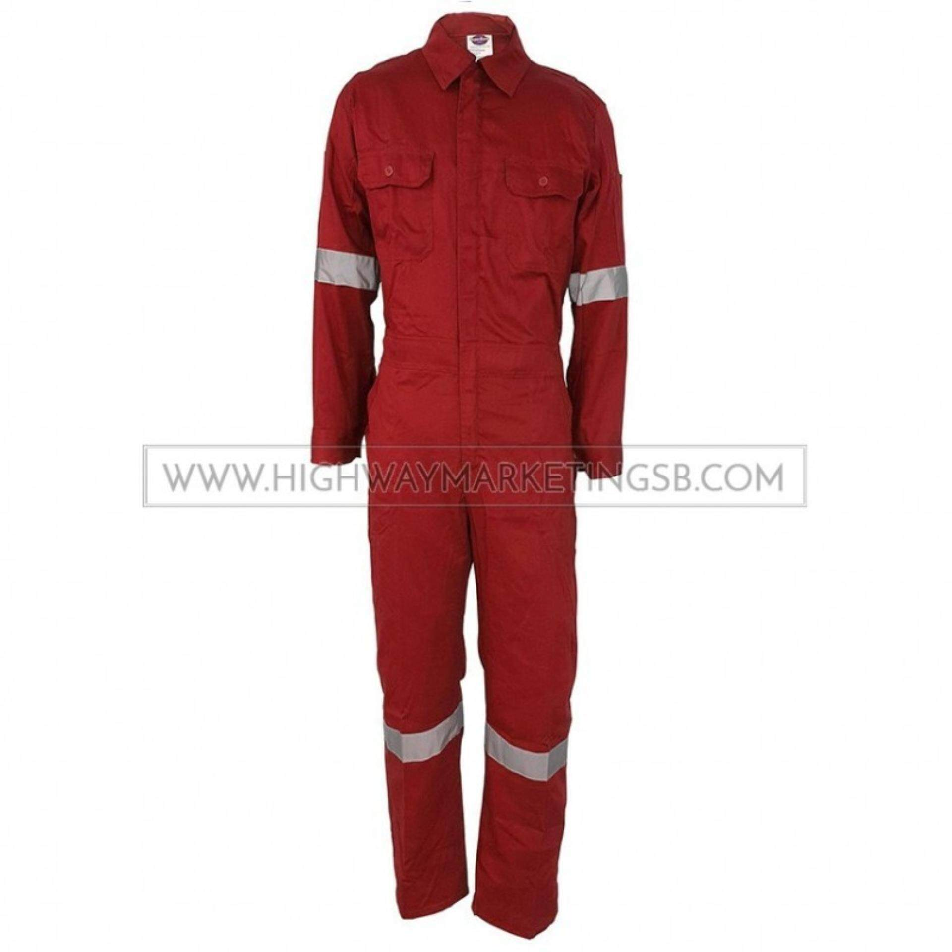 Supersonic Safety Reflective Coverall Red Size 4XL