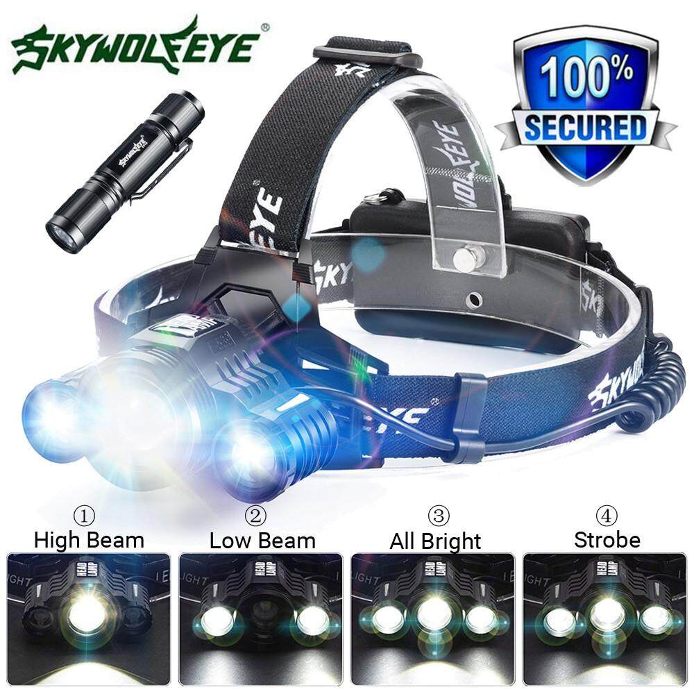 80000lm 3x Xm-L T6 Led Headlamp Head Light Flashlight Rechargeable Torch Lamp By Anvieroes.