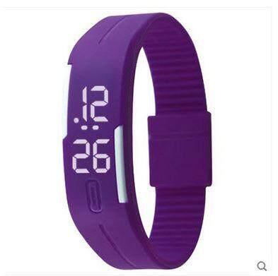 [Sherynn.com] Unisex LED Purple Silicone Digital Wrist Watch Malaysia
