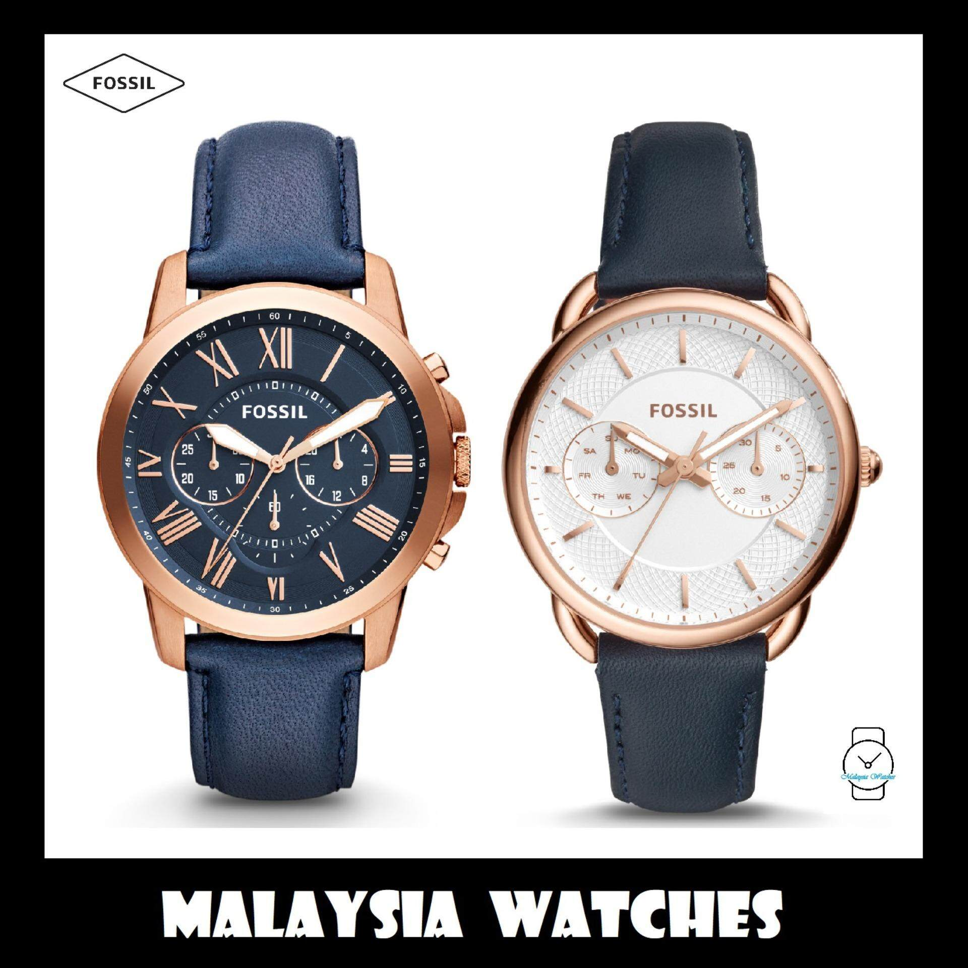 Fossil Watches Price In Malaysia Best Lazada Ch2869 Official Warranty Mens Womens Fs4835ie Es4260 Navy Leather Watch Combo