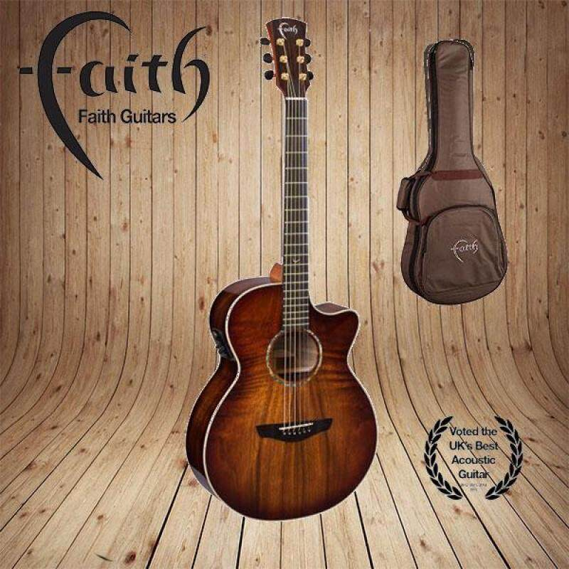 FAITH FVBMB Acoustic Guitar Blood Moon Venus With Hardcase and Pickup Malaysia