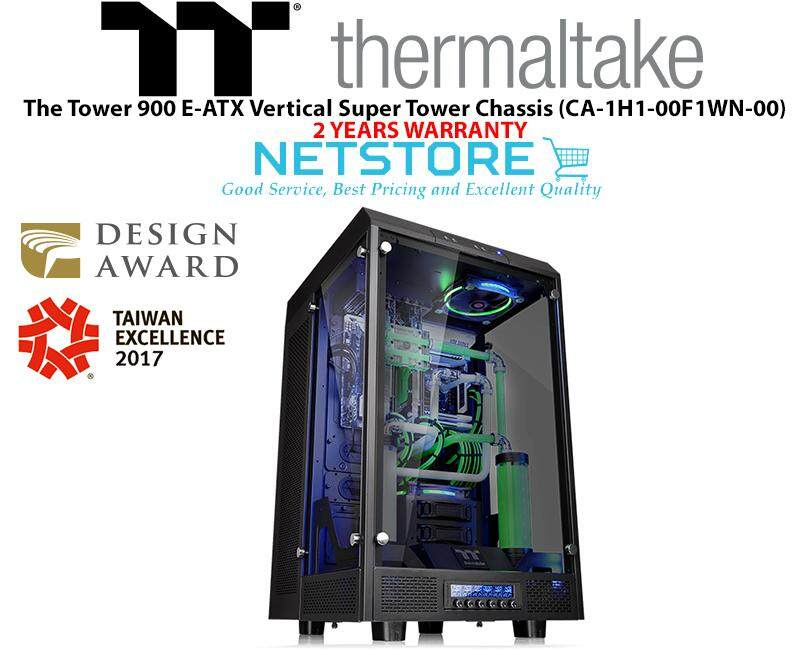 Thermaltake The Tower 900 E-ATX Vertical Super Tower Chassis - Black CA-1H1-00F1WN-00 Malaysia