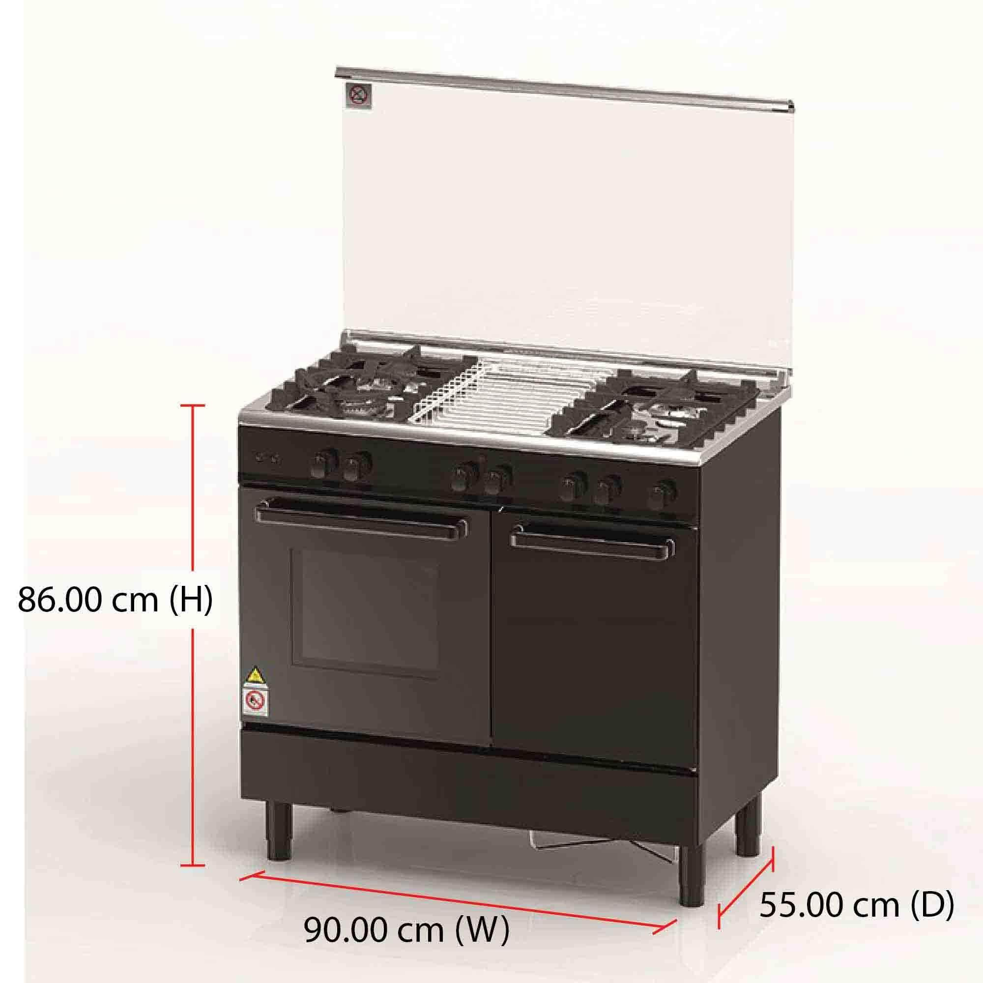 Zsi Gas Cooker Electric Oven Zcg942k 62l 4 Burners 10500w