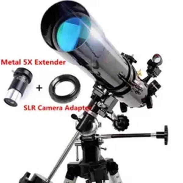 *Explore the Universe* Celestron 80EQ PowerSeeker f/7 87 Newtonian  Astronomical Telescope(Real high magnification photography:Add Metal 5X  Extender &
