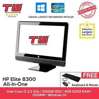 HP Elite 8300 Core i5 / 4GB RAM / 500GB HDD / Windows 10 home ALL-IN-ONE (AIO) PC / 3 Months Warranty (Factory Refurbished)