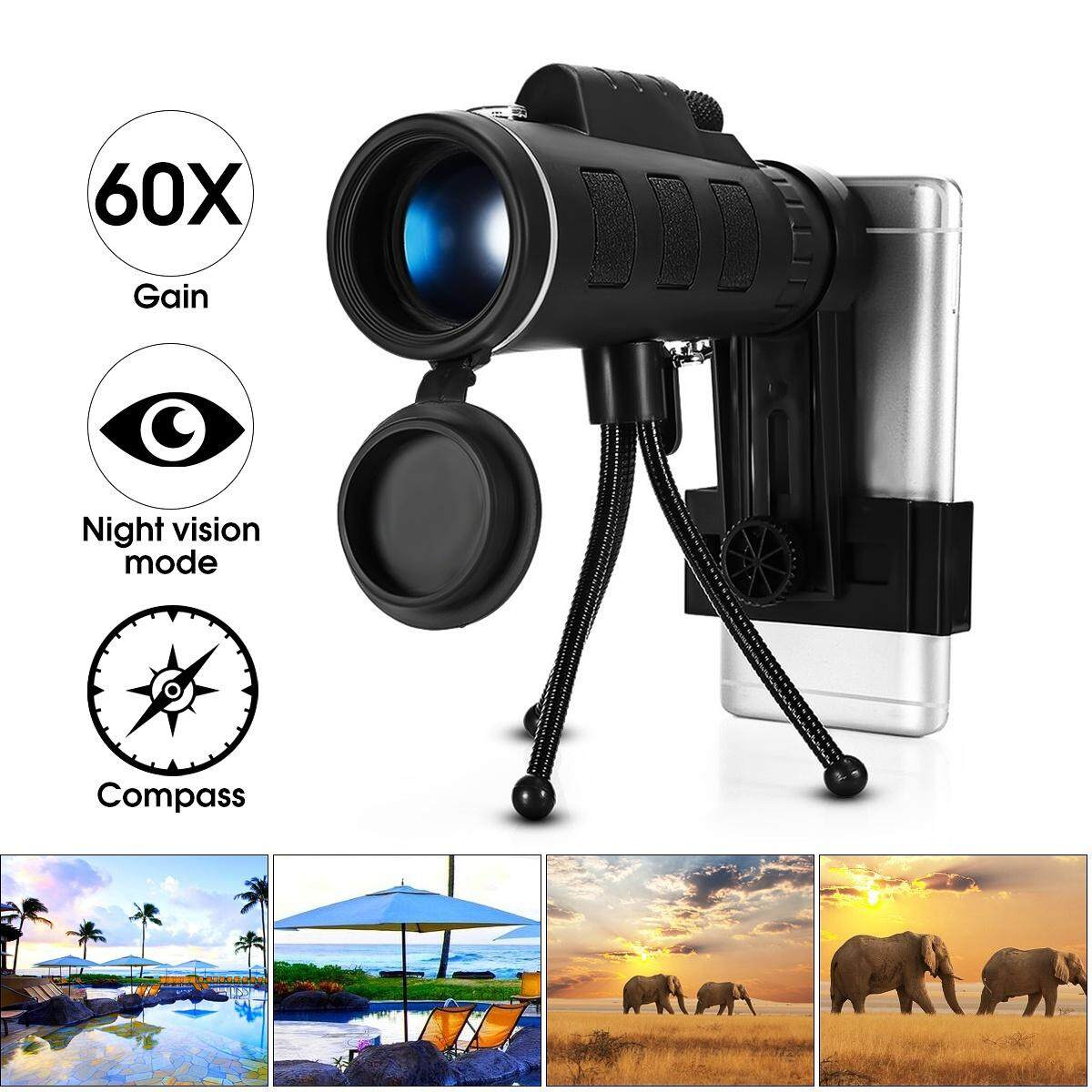 Telescopes For The Best Price In Malaysia Teropong 16x52 Cenblue 40x60 Zoom Hd Optical Monocular Telescope Lens Mobile Phone Tripod Clip