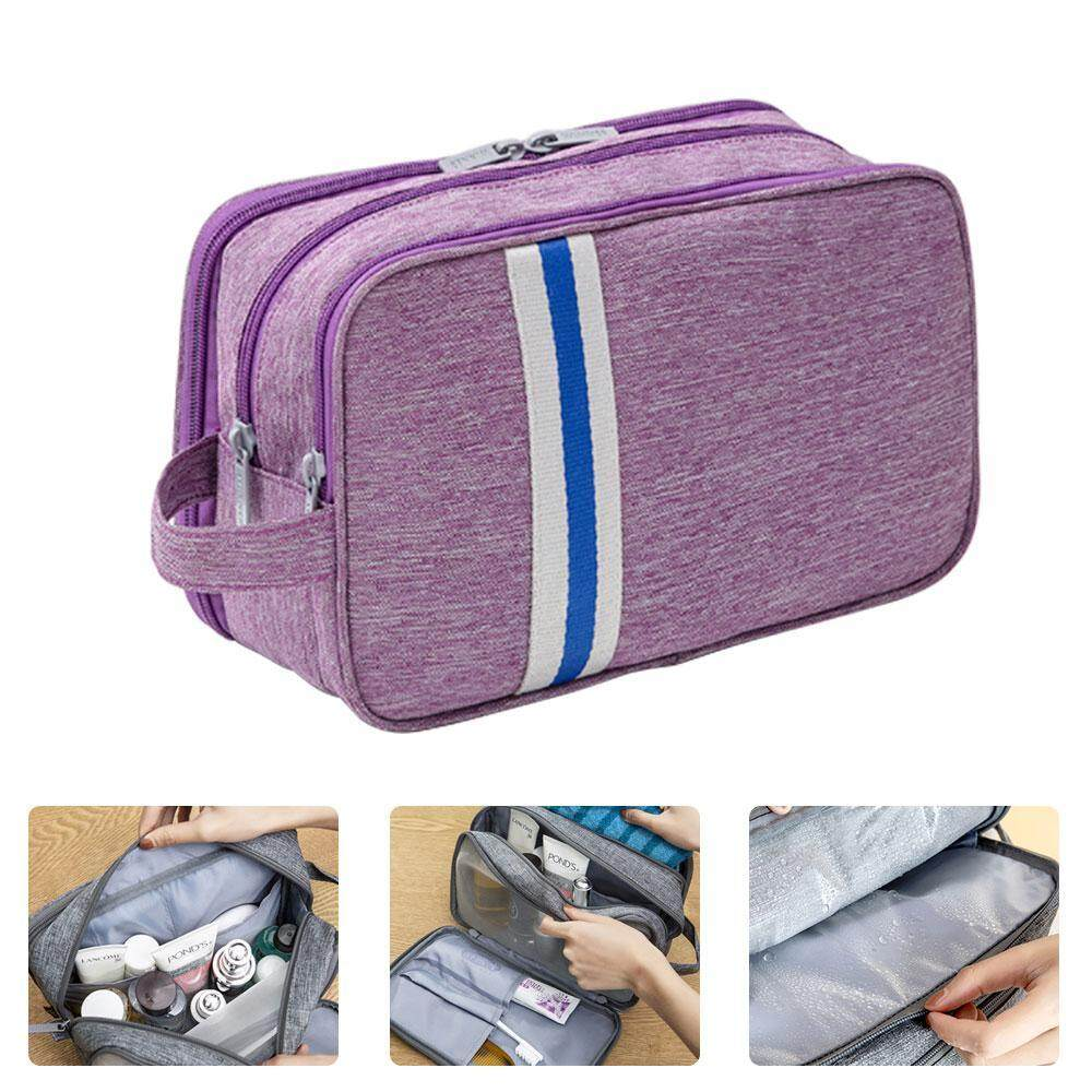 DS-Mart Travel Toiletry Bag Waterproof Makeup Bag Organizer Double Layer Portable Wash Traveling Storage