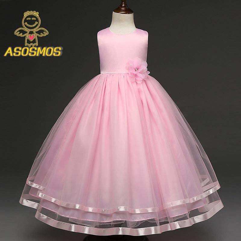 3b944e7cb64e8 ASM Baby Girl Kids Floral Dress Princess Flower Tutu Dresses for Wedding  Party Events Wear