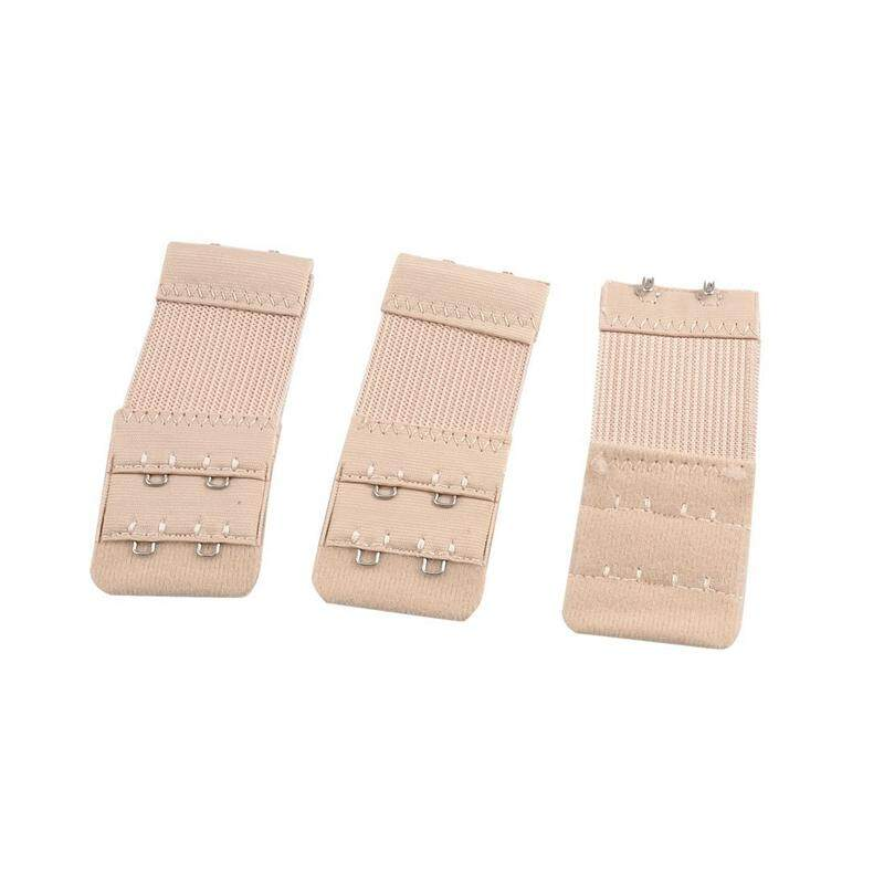 5791963ae1 3 Pcs Ladies Underwear 2 Rows Hooks Stretchy Bra Strap Extender Apricot  color