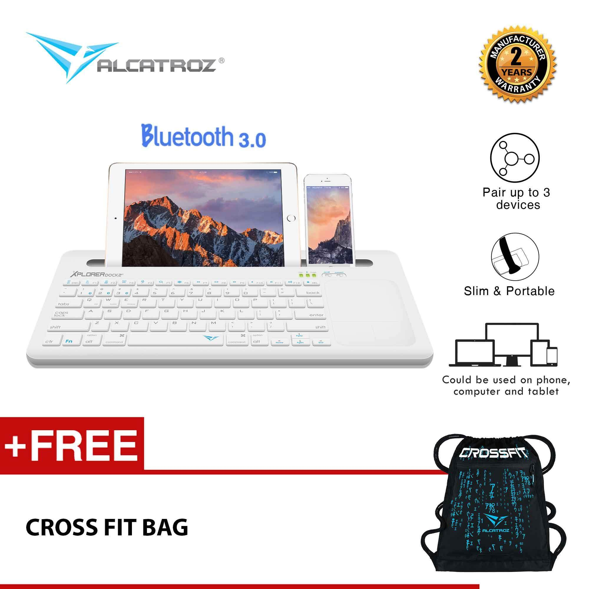 Alcatroz Xplorer Dock 2 Multi-Device Bluetooth Keyboard Free Cross Fit Bag By Alcatroz