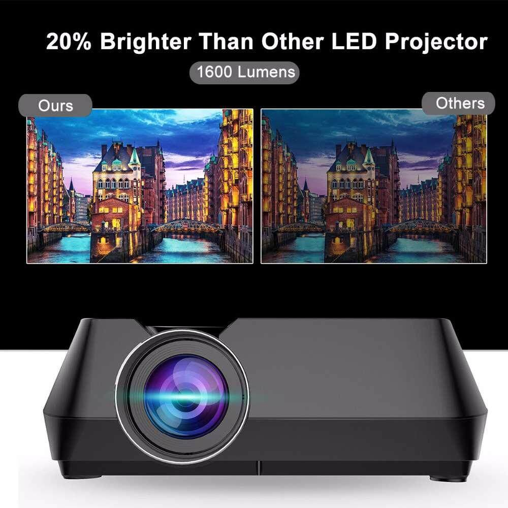 "LED Mini Projector 4 ""TFT LCD Home Theater Video Projector HDMI USB TF VGA"