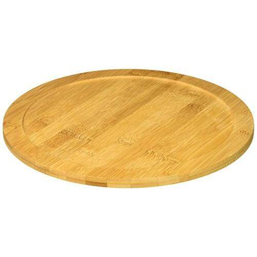 Kitchinspirations Bamboo Lazy Susan Turntable With Rim, 10 Diameter By Cross Border.