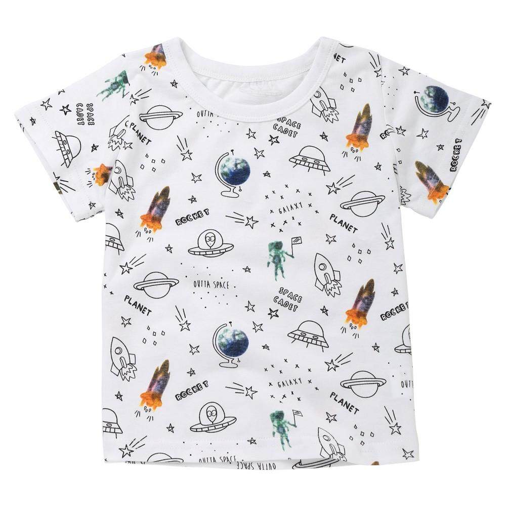 Tideshop Summer children Kid Girls Boys Rocket Letter Print T-Shirt Tops Shirts Tee By Tideshop.