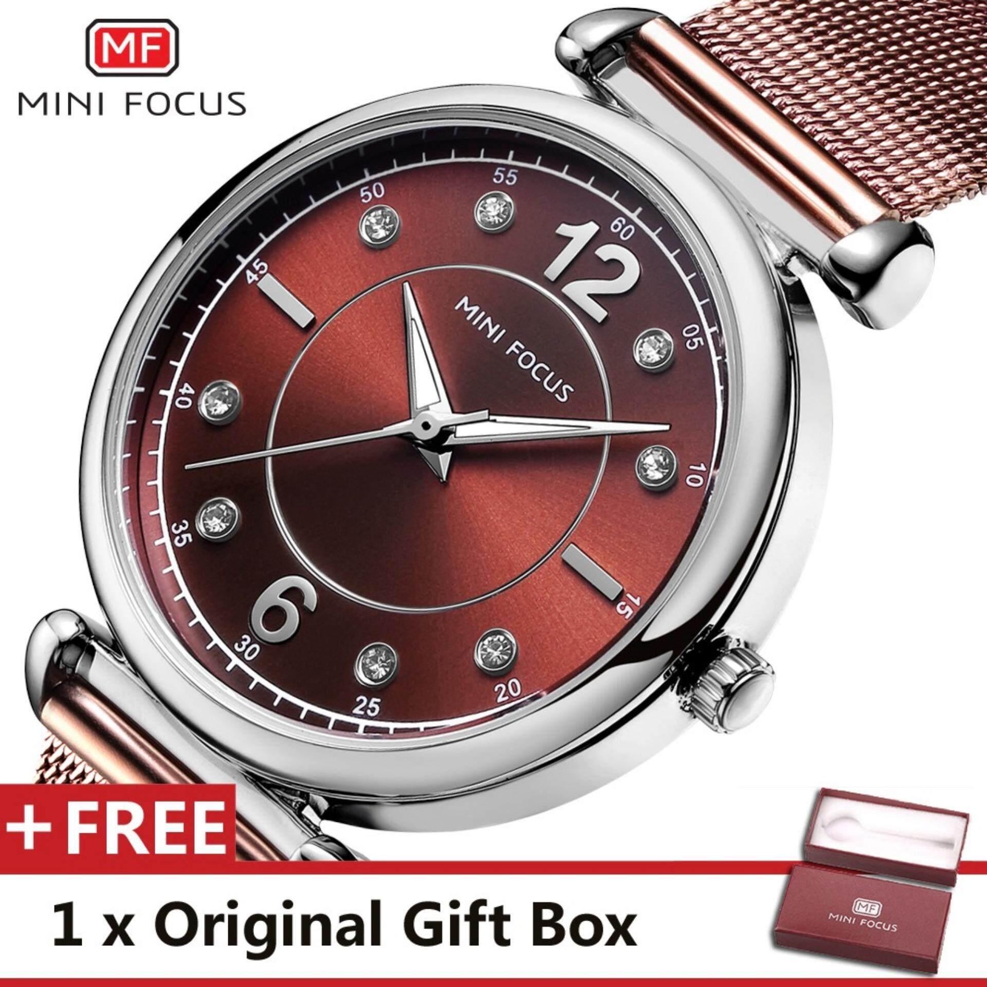 fba2c83bfed MINI FOCUS Top Luxury Brand Watch Famous Fashion Dress Women Quartz Watches  Womens Trand Wristwatch Gift