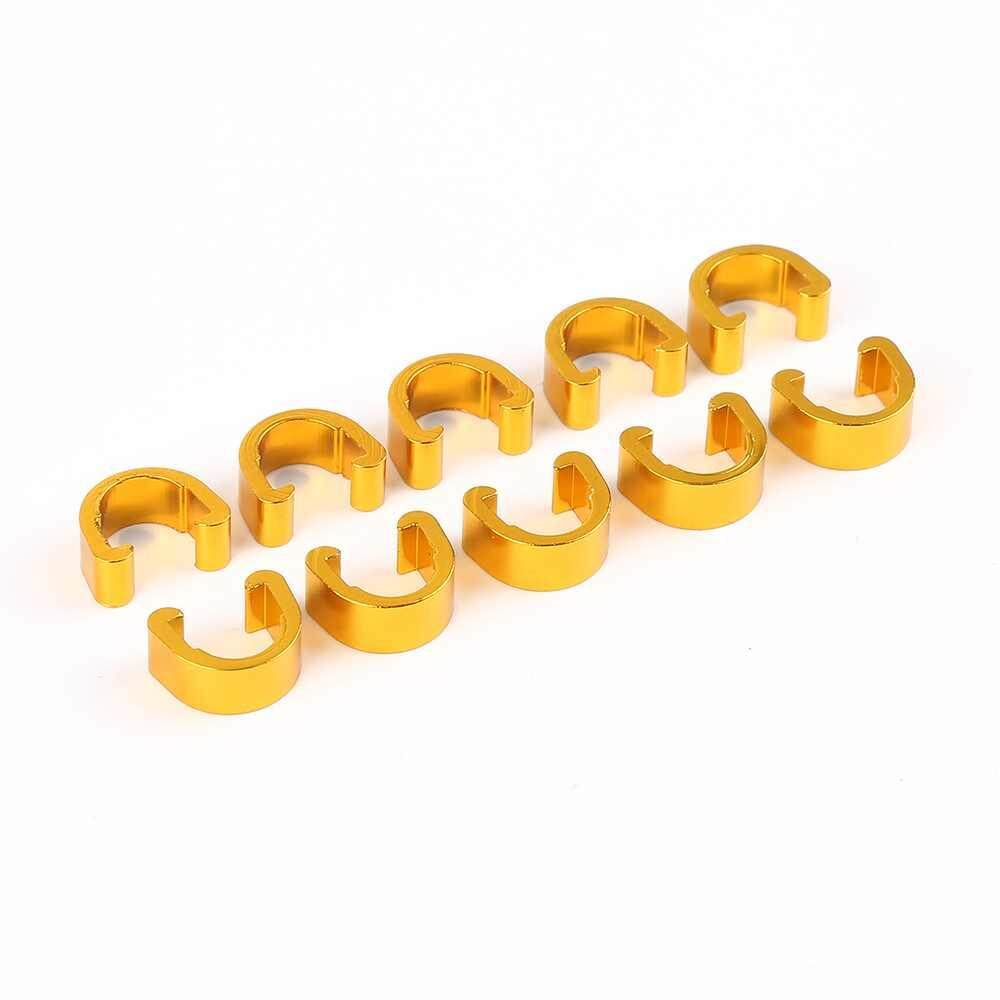 Kerui 10pcs Mtb Bike Bicycle Frame C Type Buckle For Brake Cable Housing Hose Tube Shifter Cable Guides Button Fixed Tubing Clips By Kerui.