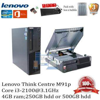 Refurbished Lenovo ThinkCentre M91P(Corei3-2100@3.1GHz;4GB ram;250GB hdd)FREE Keyboard and mouse