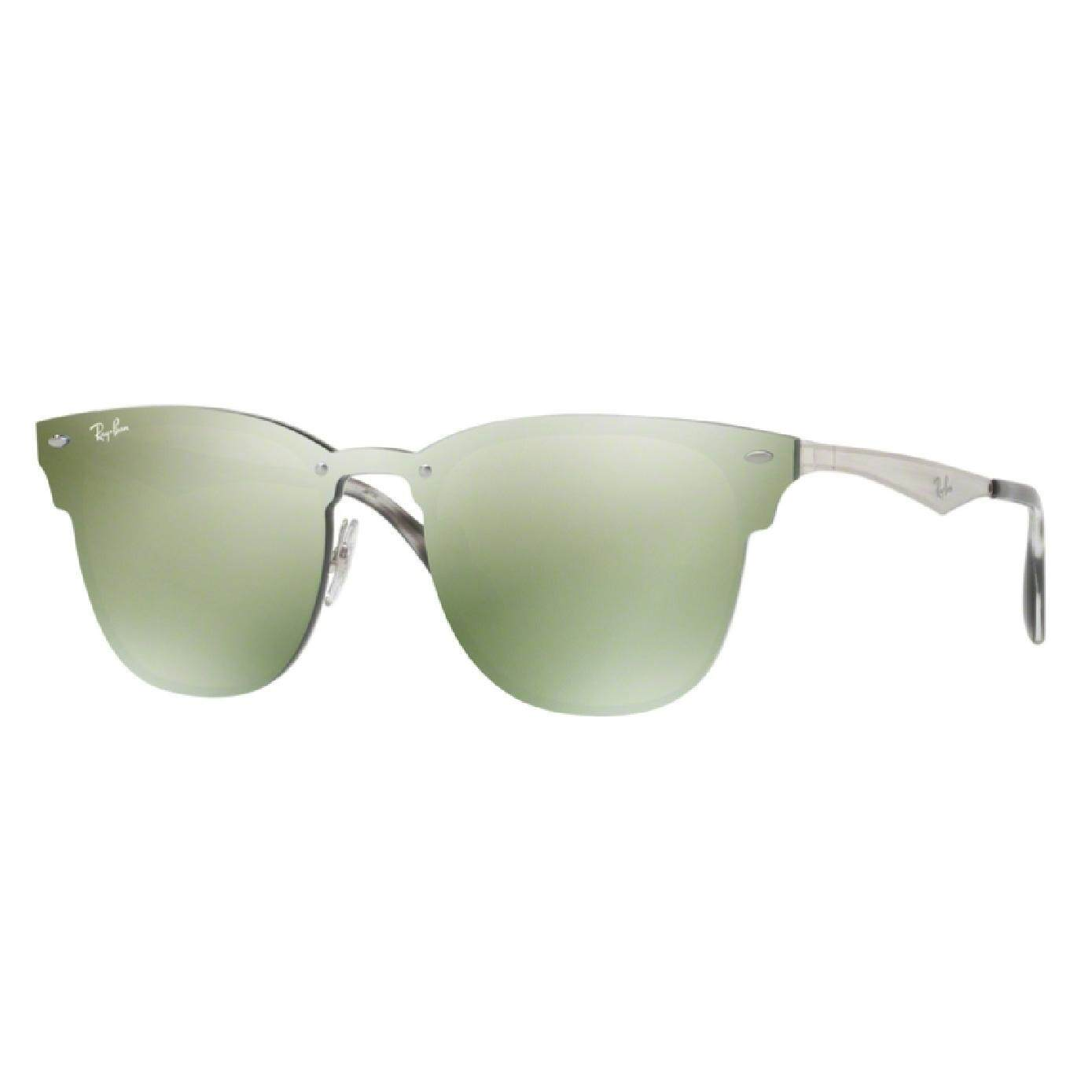 Ray-Ban Blaze Clubmaster Authentic Sunglasses , Brusched Silver d518f5708393