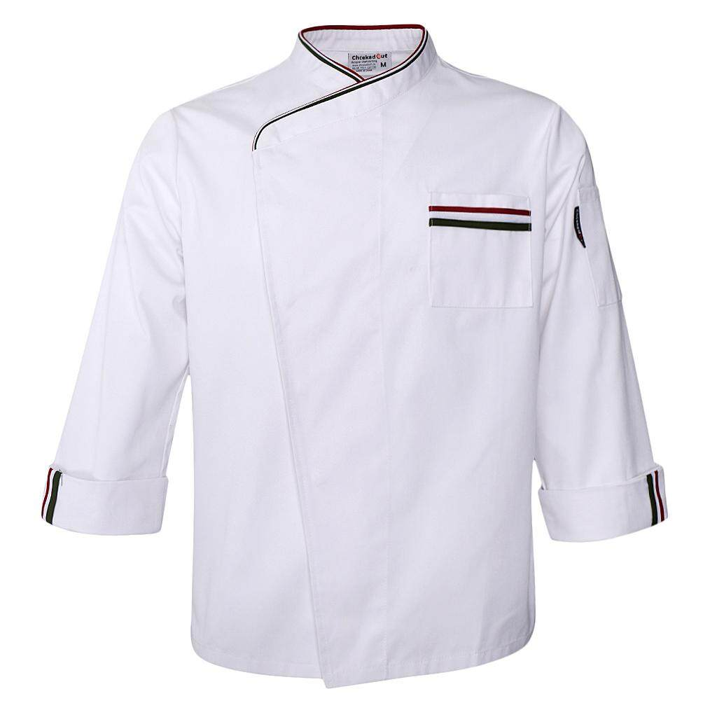 MagiDeal Mens Womens Long Sleeve Chef Jacket Coat Restaurant Cook Uniform 3XL White
