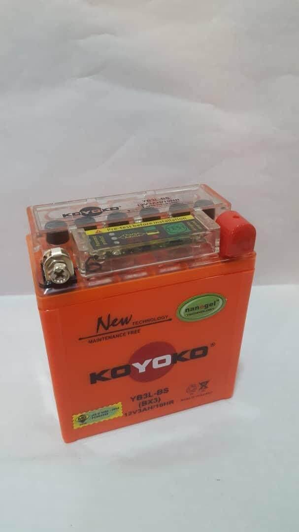 Koyoko Battery • (yb3l-Bs) Yamaha Y100/sport-2/y125z/rxz/rxz-Cat By K.k Motorspareparts.