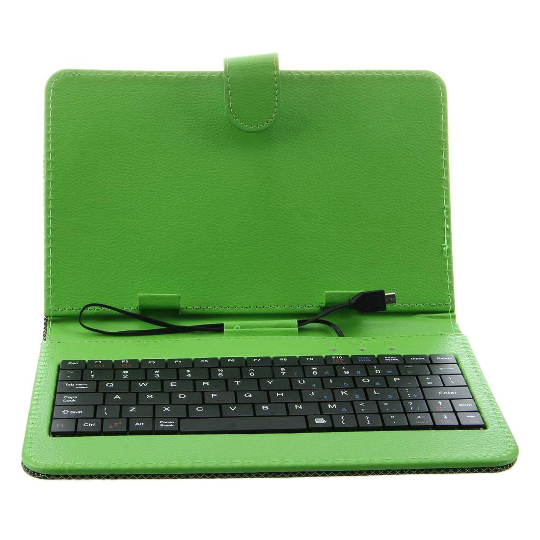 Free Shipping Green Case Cover Keybaord Stand for 7 inch Micro USB Tablet MID Malaysia