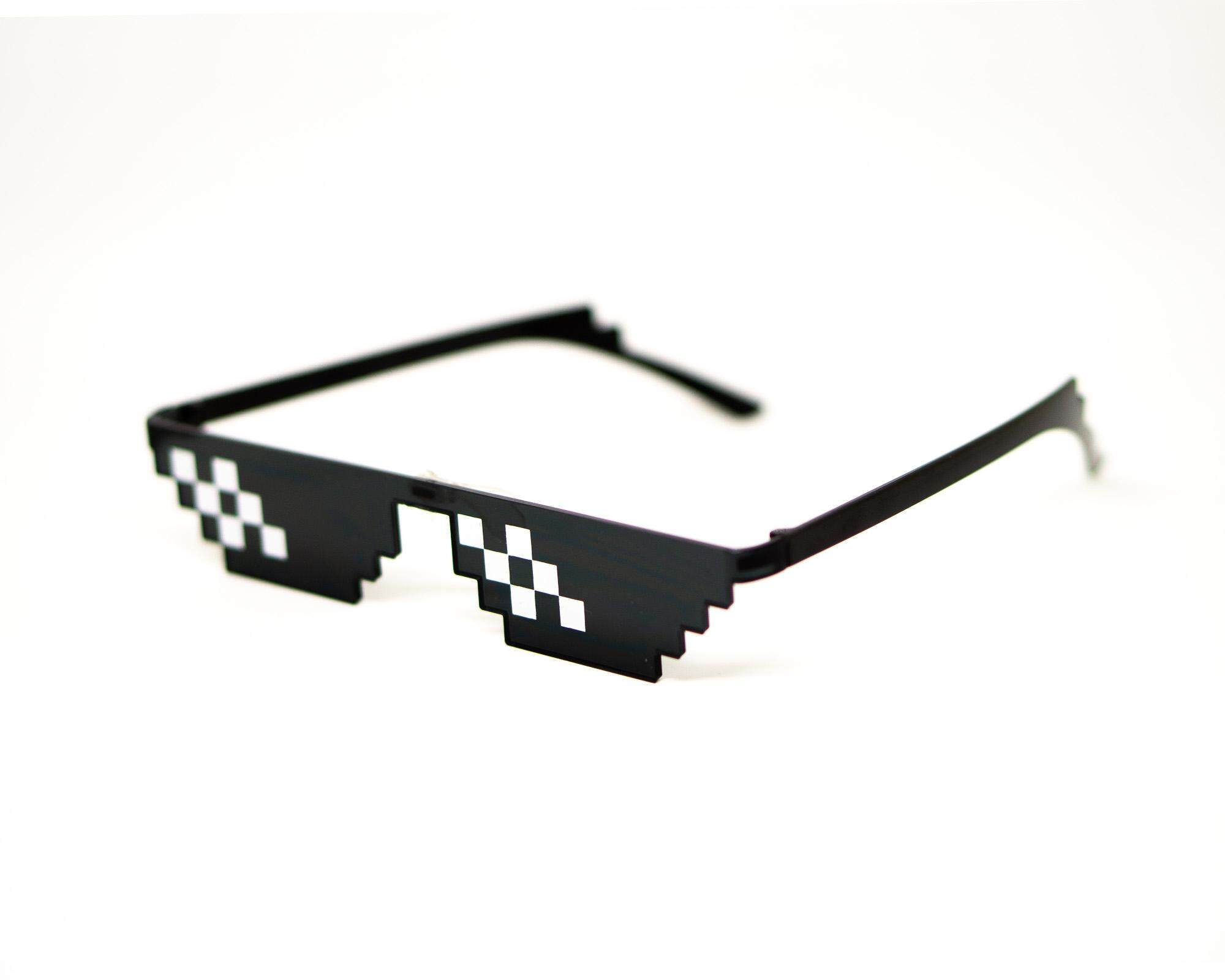 42a8b2669d Thug Life Shades Sunglasses Fun Halloween Party Deal with it 8 bits Pixel  Birthday cosplay