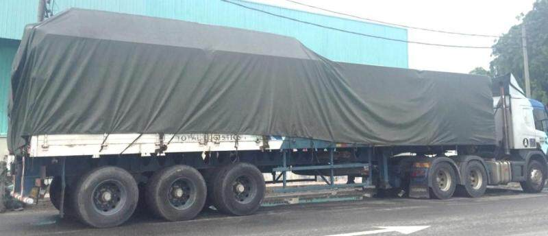 Lorry Canvas Green 50 ft x  21ft PVC Tarpaulin Vinylon Ready Made Heavy Duty Cover Lorry Canvas Outdoor Waterproof Construction Slope Protection Awning Hardware Canopy Tent Extension Kanvas Lori Hijau 50 kaki x 21 kaki Khemah Kanopi Perisai Kalis Air