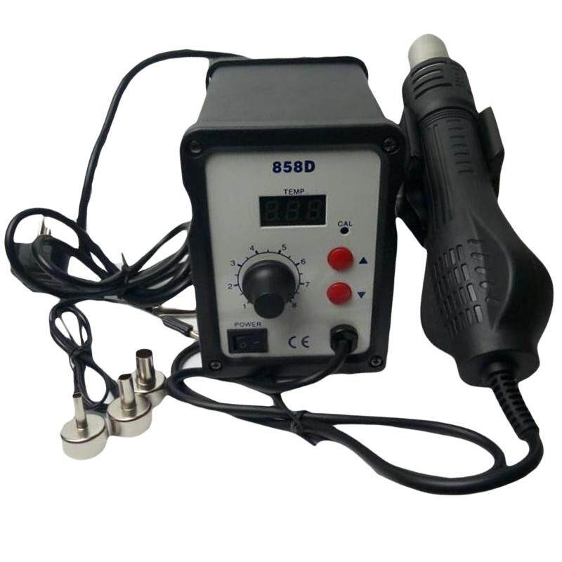 Hot Air Gun Desoldering Soldering Rework SMD Station 3 Nozzles For Yihua 858D