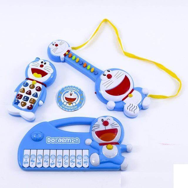 Doraemon Musical Play Set With Keyboard, Guitar And Mobile Phone By Myruncit.
