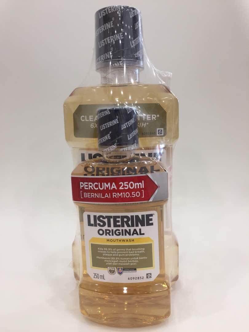 Listerine Health Beauty Price In Malaysia Best Fresh Mouth Originalherbal Bau Mulut Original 750ml 250ml