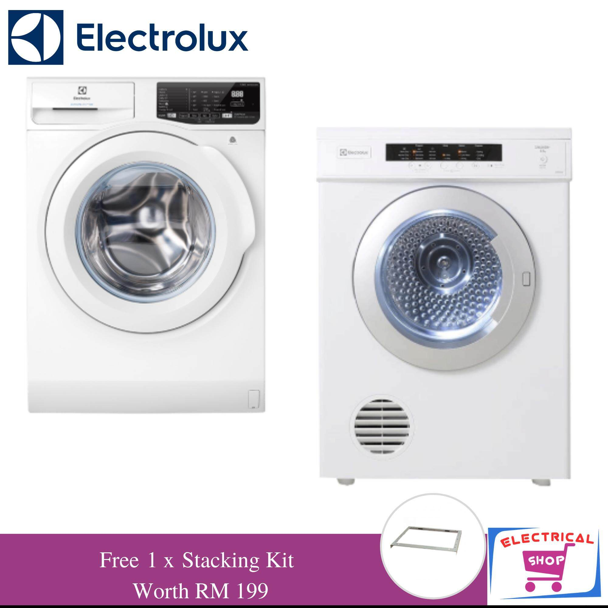 Electrolux Front Load Washer EWF7525EQWA 7.5kg + Venting Dryer EDV6552 6.5kg   Free Stacking 7f200a2f21