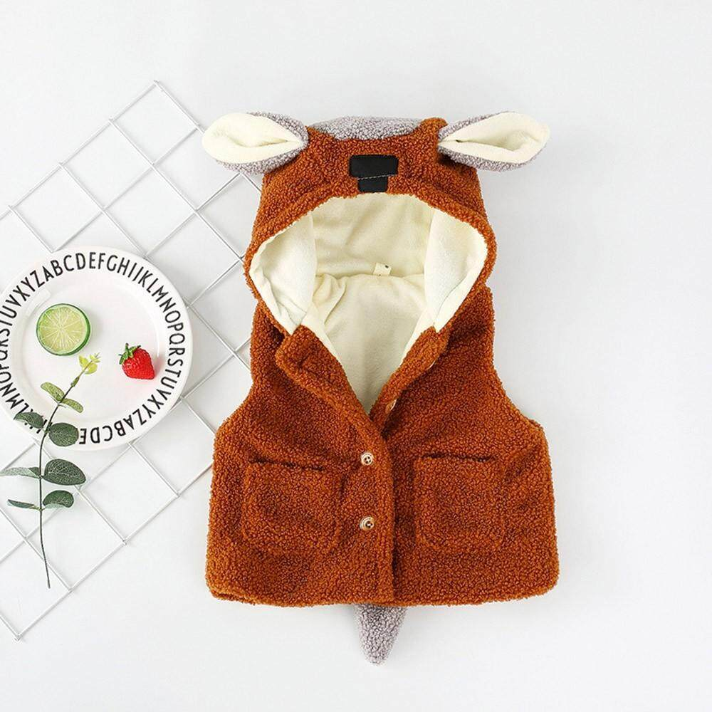 Tideshop Newborn Baby Boys Girls Cartoon Ears Jacket Waistcoat Winter Warm Clothes Coat By Tideshop.