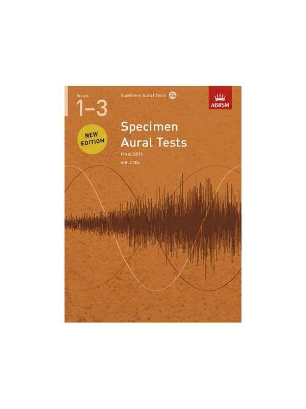 ABRSM SPECIMEN AURAL TESTS - GRADES 1-3 (2011+) BOOK/2 CDS Malaysia