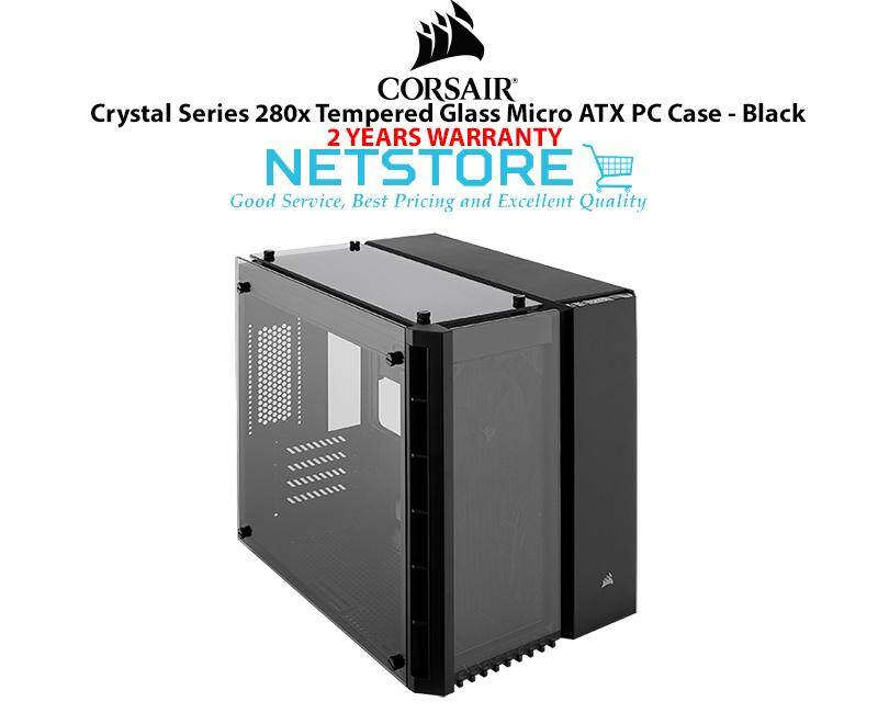 Corsair Crystal Series 280X Tempered Glass TG Micro ATX PC Case Black CC-9011134-WW Malaysia