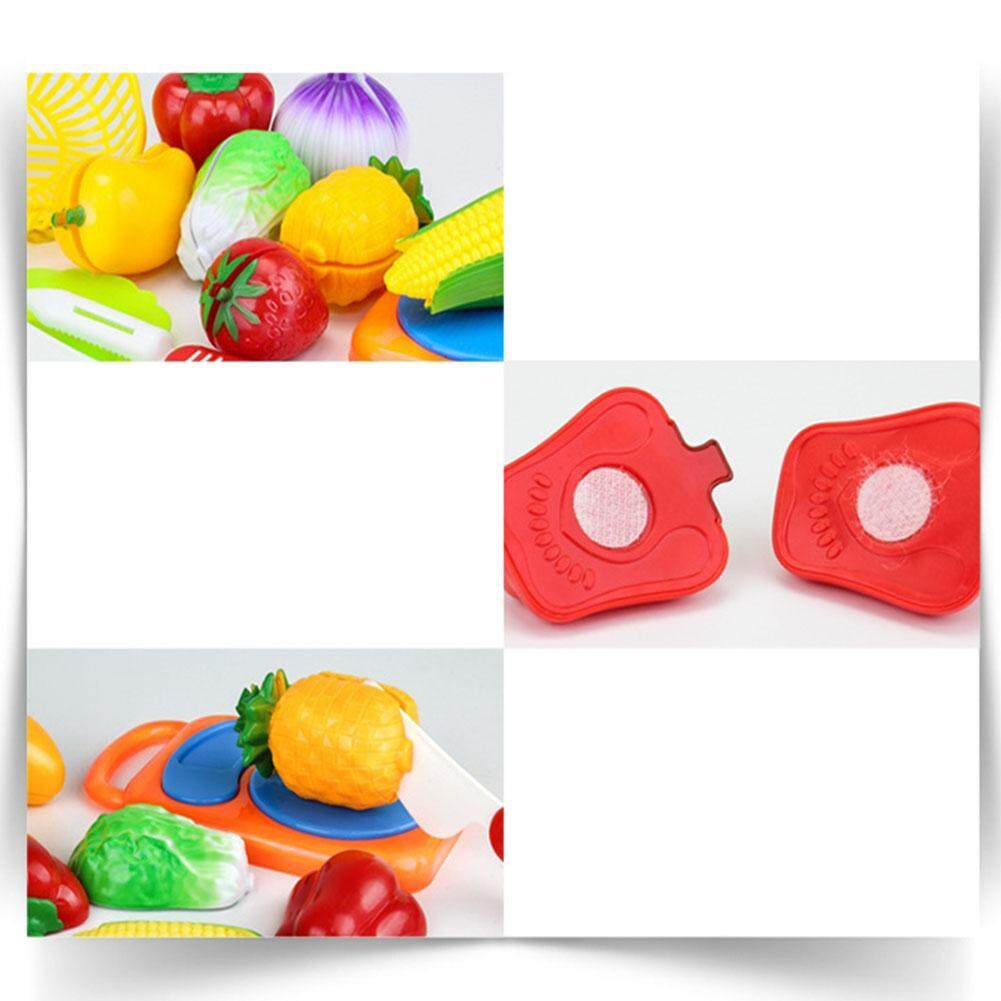 Pellet12 12pcs Children Cutting Fruits Vegetables Set Puzzle Pretend Play Toys as Gifts - 3