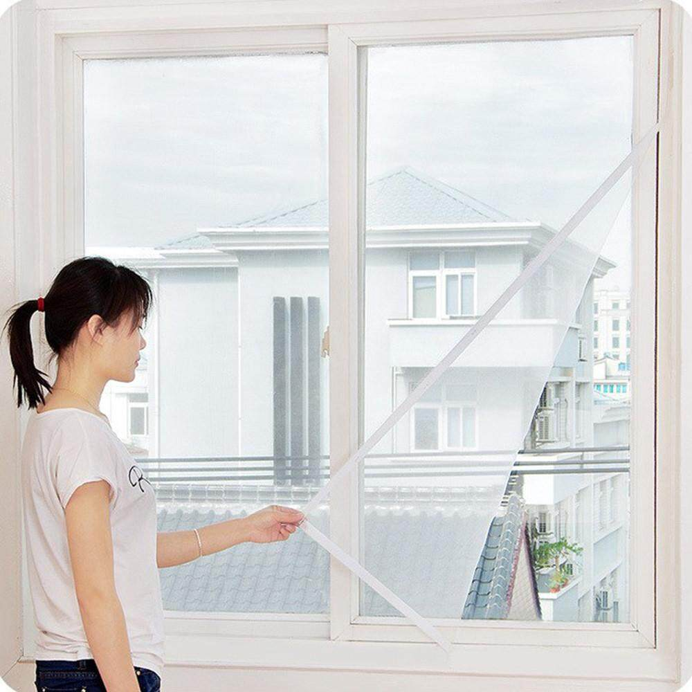Malonestore 3 Pc Window Fly Screen Nets Mosquito Insect Mesh With 3 Rolls Self-Adhesive Tape By Malonestore.