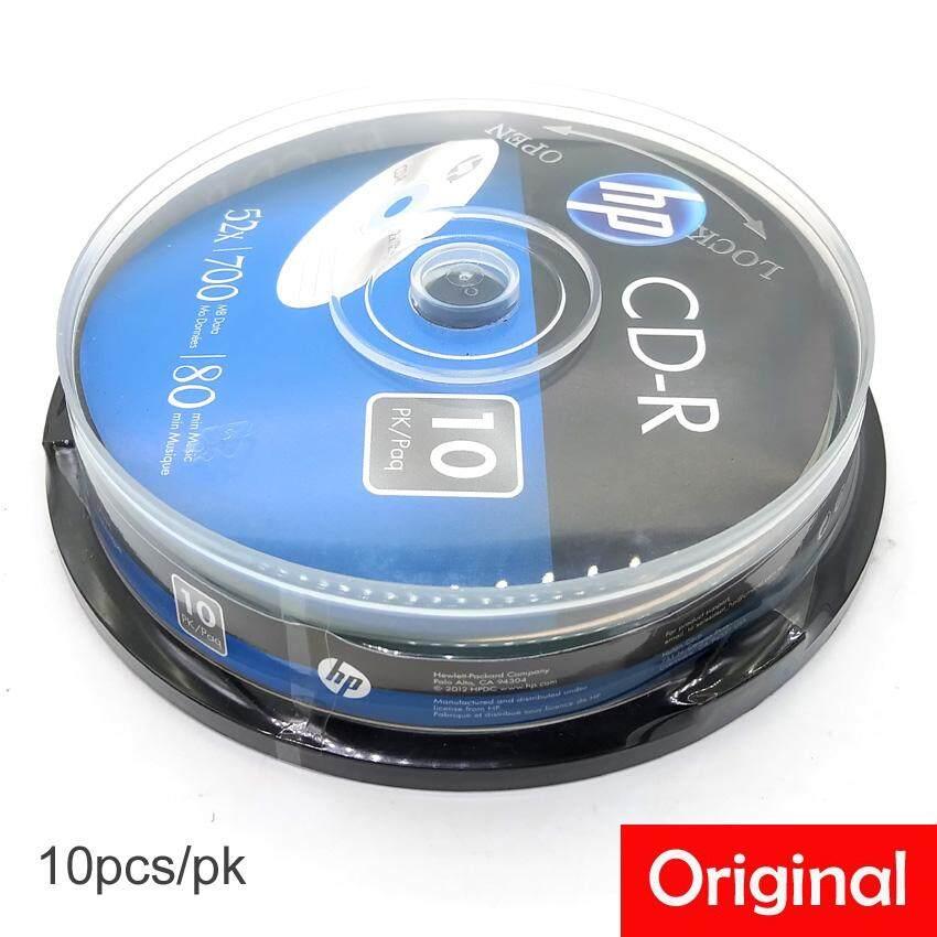 10Pcs Official HP CD R 700MB 80Min 52X With Box