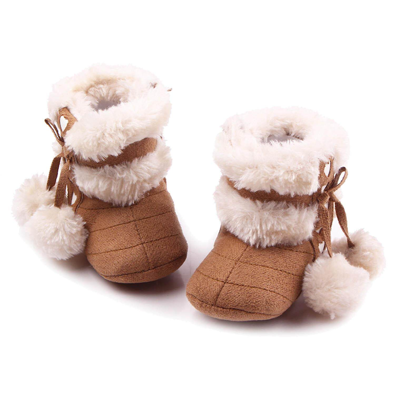 32a19c90f7d6d Newborn Baby Infant Winter Warm Soft Cotton Shoes Boots Christmas Boots  Deep Khaki Size M for