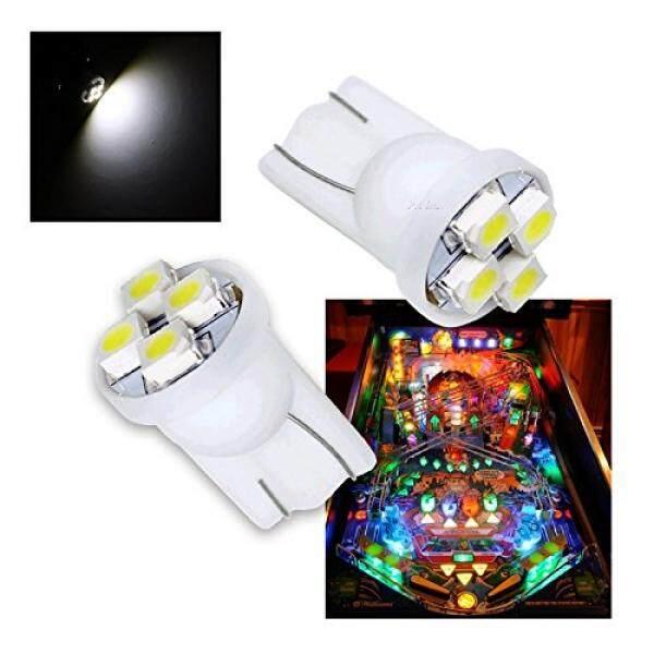 Pa® 10pcs 555 T10 4smd Led Pinball Machine Light Bulb White-6.3v By Buyhole.